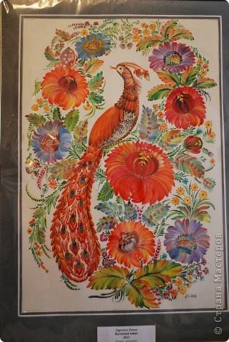 """Одна из последних моих работ, выполненная в стиле украинской петриковской росписи, называется """"Казковий птах"""".Согласитесь, что есть в этих фантастических, нереальних, """"петриковских"""" птицах какая-то притягательная тайна, они из детства, когда все было ярко, живо, празднично.  фото 1"""