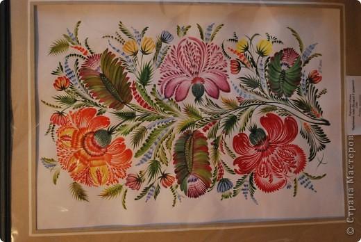 """Одна из последних моих работ, выполненная в стиле украинской петриковской росписи, называется """"Казковий птах"""".Согласитесь, что есть в этих фантастических, нереальних, """"петриковских"""" птицах какая-то притягательная тайна, они из детства, когда все было ярко, живо, празднично.  фото 5"""