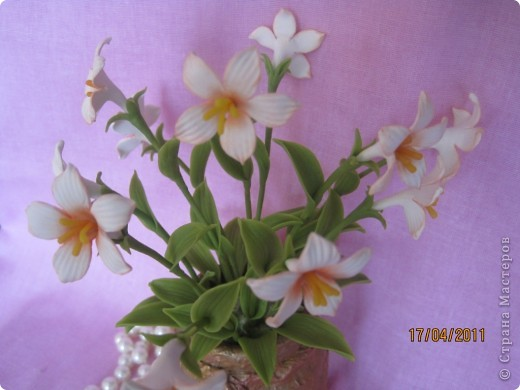Захотелось сделать для мамочки что-нибудь миленькое, нежненькое....Вот такие цветочки получились. фото 2