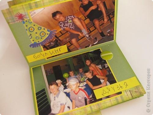 """Два последних занятия мы пытались сделать альбомы. Альбом """"история одного дня """" придуман дизайнером Лашкевич Анной. Опубликован в журнале Скрап-Инфо №1 2011 фото 14"""
