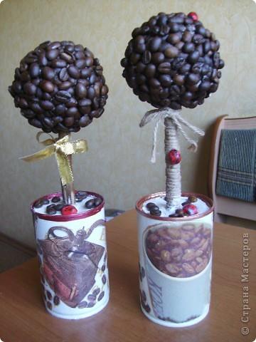 Много чудес в Стране Мастеров, много сказочных деревьев, каждое по-своему оригинально, со своей изюминкой. У меня получились вот такие - кофейные.... фото 1