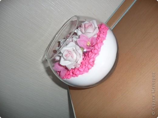 Купила в зоомагазине крашенные камушки...очень удачно вписались в мою розовую коллекцию) фото 2