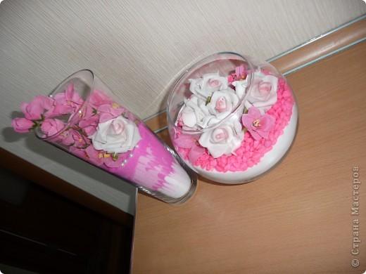 Купила в зоомагазине крашенные камушки...очень удачно вписались в мою розовую коллекцию) фото 1
