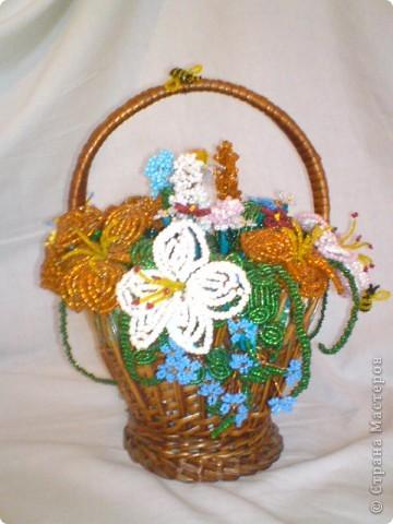В этой корзине 7 видов цветков. фото 1