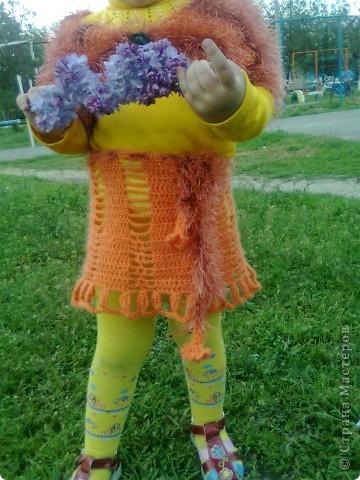 Люблю вязать, особенно детские вещи. Для своей любимой доченьки часто вяжу обновки и мне кажется такой солнечный цвет в сочетании с разнофактурной пряжей ей очень идёт. фото 3
