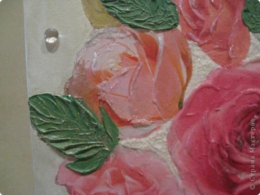 """Декоративное панно """"Розовый букет"""" фото 3"""