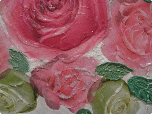 """Декоративное панно """"Розовый букет"""" фото 2"""