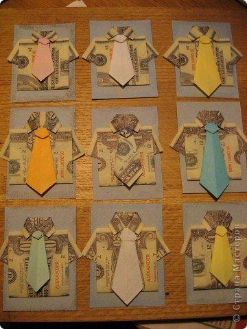 """Встречайте: вот такая простенькая """"валютная"""" серия. Я в должниках у Филюши, Михаелы, tvlasova1, поэтому сначала """"затариваются"""" они, потом - по мере поступления заявок. Рубашечки и галстуки выполнены в технике оригами. фото 1"""