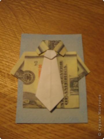 """Встречайте: вот такая простенькая """"валютная"""" серия. Я в должниках у Филюши, Михаелы, tvlasova1, поэтому сначала """"затариваются"""" они, потом - по мере поступления заявок. Рубашечки и галстуки выполнены в технике оригами. фото 3"""