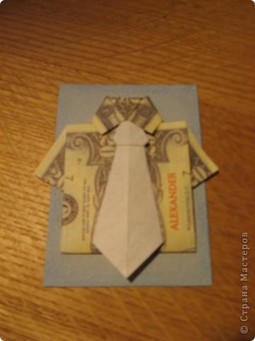 """Встречайте: вот такая простенькая """"валютная"""" серия. Я в должниках у Филюши, Михаелы, tvlasova1, поэтому сначала """"затариваются"""" они, потом - по мере поступления заявок. Рубашечки и галстуки выполнены в технике оригами. фото 8"""