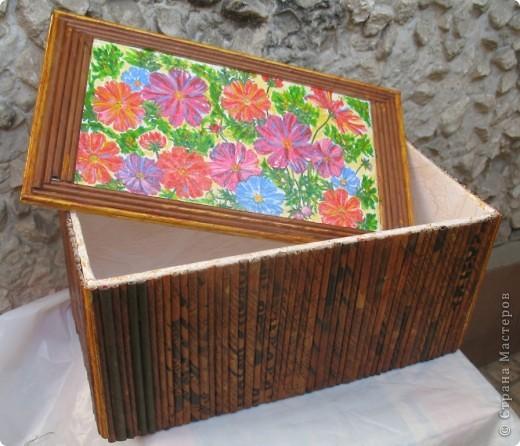 Коробочка с цветной крышкой фото 1