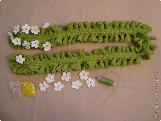 девочки мне очень понравились работы бразильской рукодельницы , и я насмотревшись ТАКОЙ красоты кинулась себе шарфик вязать. фото 2