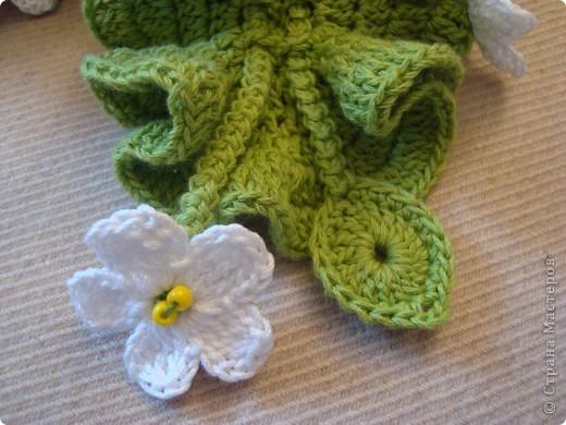 девочки мне очень понравились работы бразильской рукодельницы , и я насмотревшись ТАКОЙ красоты кинулась себе шарфик вязать. фото 3