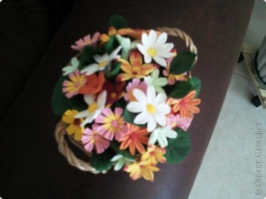 Корзина с мелкими цветочками фото 3