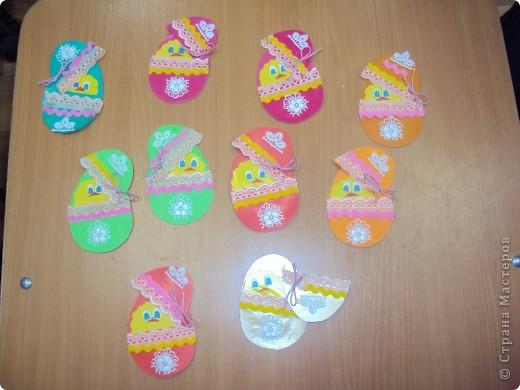 Мои первоклассники сделали вот таких милых цыплят (по материалам сайта). Спасибо за идеи! фото 1