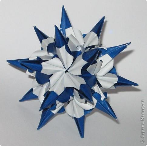 Здравствуйте! Igel curled, автор: Екатерина Лукашева Схема: http://kusudama.me/#/Spikes/Igel_curled/igel3 фото 2