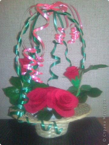 Корзина с розами фото 1