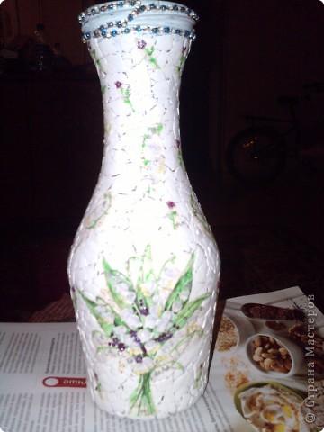 Вот такая бутылочка у меня получилась. фото 4