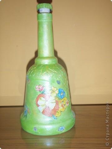 Такие  пасхальные бутылочки делала на праздник.Давно хотела выставить всё руки не доходили..... фото 2