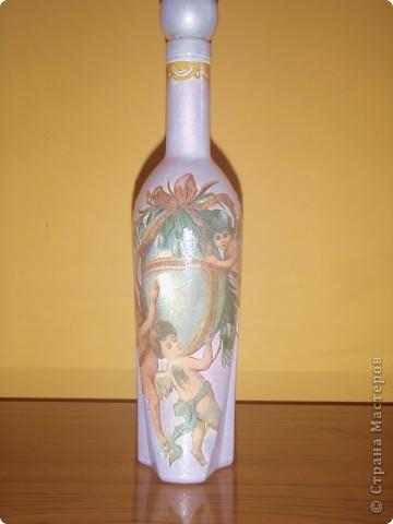 Такие  пасхальные бутылочки делала на праздник.Давно хотела выставить всё руки не доходили..... фото 3