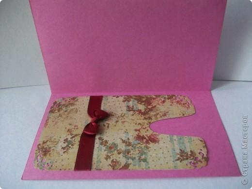 Сделала открыточку на скорую руку. Сегодня подарила невестке на день рождения. Ей очень понравилось. фото 4