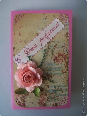 Сделала открыточку на скорую руку. Сегодня подарила невестке на день рождения. Ей очень понравилось. фото 2
