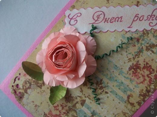 Сделала открыточку на скорую руку. Сегодня подарила невестке на день рождения. Ей очень понравилось. фото 3