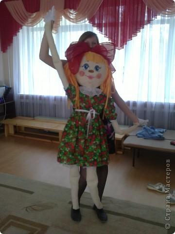 Кукла сшита из ткани х/б.  Кукла предназначается для театрализованных представлений. Рост 1.5 м. Лицо куклы расписано акриловыми красками. фото 2