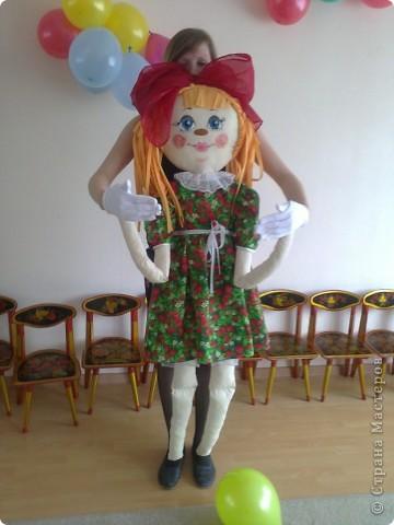 Кукла сшита из ткани х/б.  Кукла предназначается для театрализованных представлений. Рост 1.5 м. Лицо куклы расписано акриловыми красками. фото 1