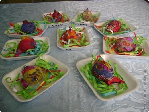 Рыбки Коллективная работа с детьми 5-6 лет. фото 1
