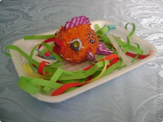 Рыбки Коллективная работа с детьми 5-6 лет. фото 2