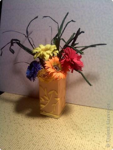 Ваза с разноцветными цветочками