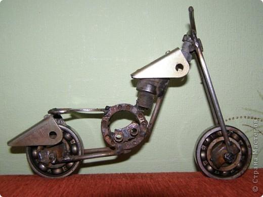 Мотоцикл из метала  фото 4