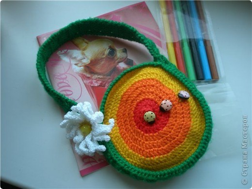 Вот такая сумочка связалась для доченьки)))  фото 1