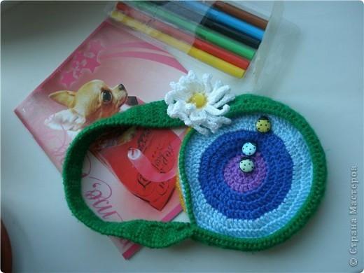 Вот такая сумочка связалась для доченьки)))  фото 3