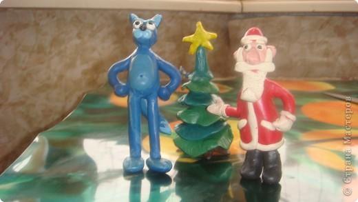 Наши зверюшки и Дед Мороз. фото 1