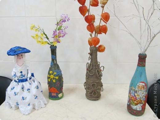 """Это мои вазы """"Времена года"""". Выставляю их в раздевалке в зависимости от времени года и наполняю их по теме. фото 1"""