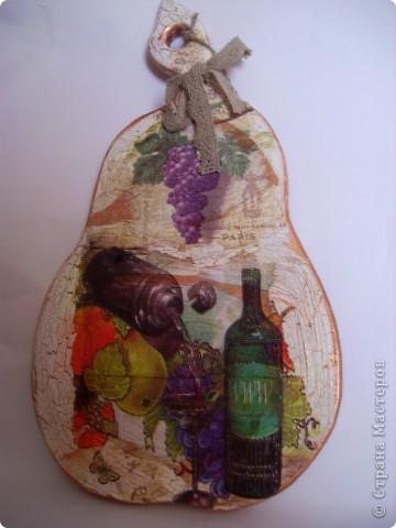 """Досочка  """"Осень"""". заготовка, салфетка, акриловые краски, лак. фото 5"""