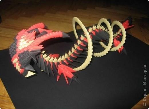 Дракон из модулей Бумага