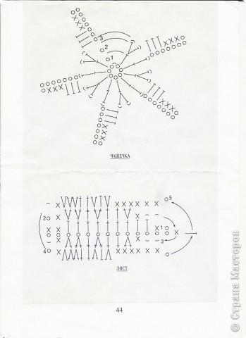 Схема вязания розы крючком фото 3