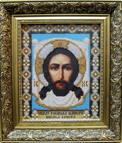 """Вышивка бисером """"Образ Иисуса Христа"""""""