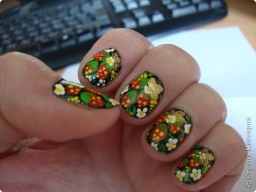 Моему образу жизни не подходят такие модные ныне накладные ногти. Но красоты хочется.  Содать ее очень легко. Присоединяйтесь! фото 9