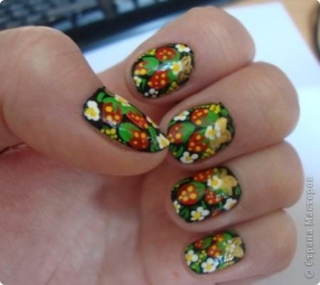 Моему образу жизни не подходят такие модные ныне накладные ногти. Но красоты хочется.  Содать ее очень легко. Присоединяйтесь! фото 1