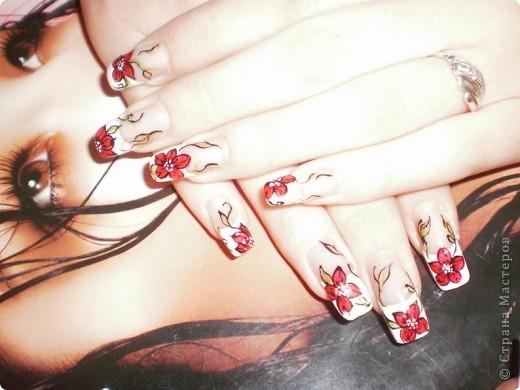 Ногти-это моё!Я самоучка!Все работы тоже мои!Я наращиваю акрилом и рисую!Всем приятного просмотра!))))))))) фото 4