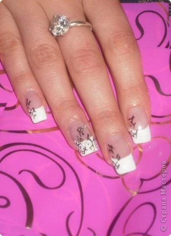 Ногти-это моё!Я самоучка!Все работы тоже мои!Я наращиваю акрилом и рисую!Всем приятного просмотра!))))))))) фото 8