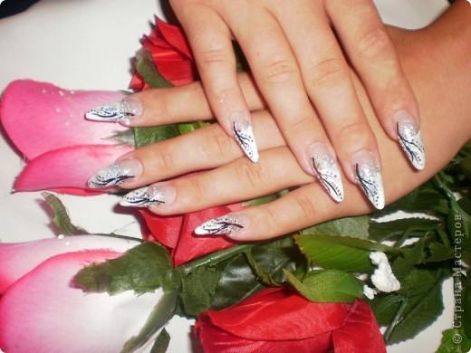 Ногти-это моё!Я самоучка!Все работы тоже мои!Я наращиваю акрилом и рисую!Всем приятного просмотра!))))))))) фото 14