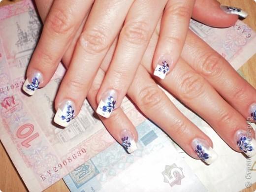 Ногти-это моё!Я самоучка!Все работы тоже мои!Я наращиваю акрилом и рисую!Всем приятного просмотра!))))))))) фото 23