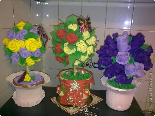 """Дървото розите """"Нежност"""". Подарък за майка ми. фото 2"""