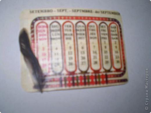 Попал мне в руки презент из Египта - календарь на папирусе! Добавила перышки, и теперь не сомневаюся, что это карточки АТС фото 5