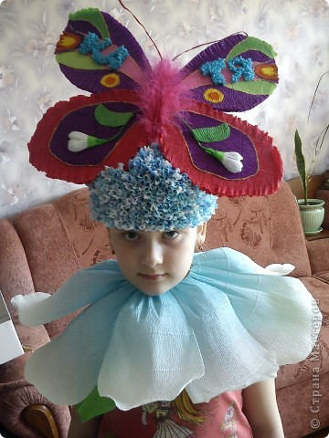 Детская шляпка из бумаги